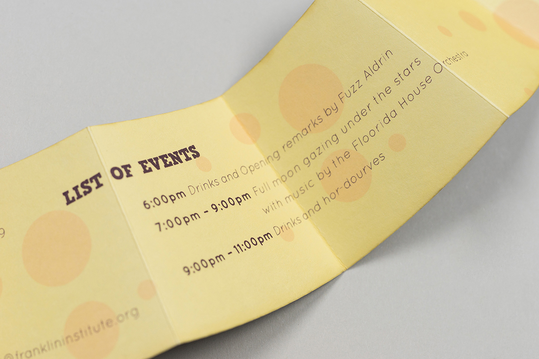 continuation of invitation information on back of pull-out